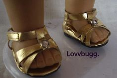 Gold-Sandals-Shoes-for-18-American-Girl-Doll-Clothes-Widest-Selection-Online