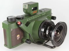 Green Linhof Technorama 617 s III Outdoor Super Angulon Vintage Lomography - Lomo ready cameras - Vintage collectible cameras www. Etsy.com/VintageLomography