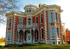 """""""An Indiana 19th century home"""" ....  Yes, this looks like Indiana!!  Love the details and shapes."""