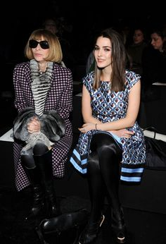 Anna Wintour and Bee Shaffer attend the Prabal Gurung fashion show during Mercedes-Benz Fashion Week Fall 2014 at Skylight at Moynihan Station on February 8, 2014 in New York City.   Photo by Craig Barritt/Getty Images