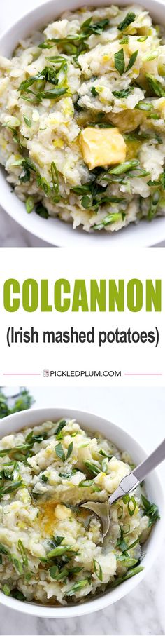 Colcannon - This is a healthier version of the traditional Irish dish, colcannon. It contains olive oil and leeks and may just be the best mashed potato recipe you�ve ever tasted! Easy to prep and cook, your whole family will love it! Recipe, mashed potat