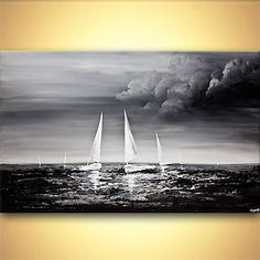 Seascape painting - Stormy Sea