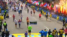 An explosion goes off near the finish line of the Boston Marathon on April 15. Two explosions struck the marathon as runners crossed the finish line on Monday, witnesses said, injuring an unknown number of people on what is ordinarily a festive day in the city.