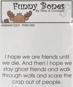 New Cling Riley & Company Funny Bones Rubber Stamp FRIENDS FOREVER THAN GHOST #RileyCo #clingmount
