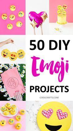 50 DIY Emoji Craft Ideas That Will Put a Smile on Your Face, http://www.coolcrafts.com/diy-emoji-crafts/
