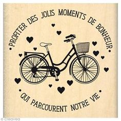 Tampon Soaring sweets – Pretty ride – 6 x 6 cm – Tampo – Wall Product Ideas French Words, French Quotes, French Signs, Positive Mind, Positive Attitude, Tampon Scrapbooking, Positiv Quotes, Jolie Phrase, Quote Citation