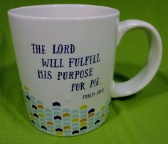Bible Verse Coffee Mug Tea Cup Hot Chocolate Blue Psalm The Lord Class of 2015 #DaySpring