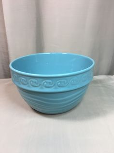 Vintage Turquoise, Vintage Kitchen, Shades Of Blue, Stoneware, Bowls, I Shop, Etsy Shop, Antiques, Tableware