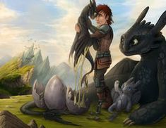 How to Train Your Dragon - United family by LosOjosdeDali Wie trainiere ich meinen Drachen? - United family by LosOjosdeDali Source by . Httyd Dragons, Dreamworks Dragons, Disney And Dreamworks, Dragon Rey, Spyro The Dragon, Hiccup And Toothless, Dragon Trainer, Dragon Pictures, Warrior Cats