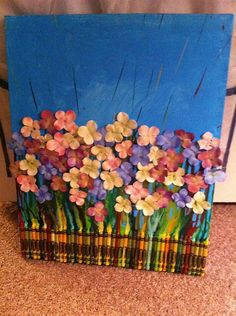 Scenic Physical Crayon Art by skrob1nm on Etsy, $50.00