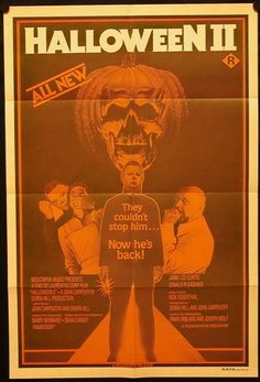 Halloween 2 1981, Halloween Series, Vintage Halloween, Horror Icons, Horror Movie Posters, Horror Films, Classic Horror Movies, Classic Films, Donald Pleasence