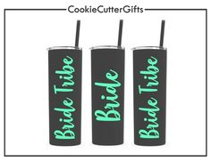 All Things Wedding – Page 6 – CookieCutterGifts Bachelorette Cruise, Bachelorette Party Favors, Thermal Bottle, Personalized Tumblers, Adhesive, Stainless Steel, Bride, Party Ideas, Wedding