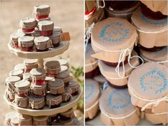 jam wedding favors @Kayla Barkett Barkett Brown