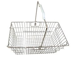 Supermarket Wire Shopping Basket (004) - China wire basket, Fuyada Carriage Bolt, Bad Posture, Wire Baskets, China, Metal, Shopping, Metals, Porcelain