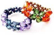 3 DIY Beaded Ring Tutorials using Swarovski Crystal