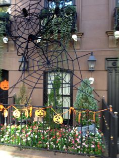 Halloween decorations in NYC