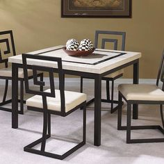 Welded Furniture, Iron Furniture, Steel Furniture, Home Decor Furniture, Table Furniture, Furniture Design, Glass Furniture, Black Metal Chairs, Metal Dining Chairs