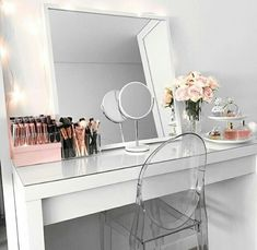Makeup Vanity Ikea Malm Dressing Table Mirror New Room Room Makeover, Room, Interior, Dressing Table Mirror, Ikea Malm Dressing Table, Room Inspiration, Room Decor, Bedroom Decor, Vanity Room