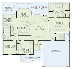 Traditional Style House Plan - 3 Beds 2 Baths 1525 Sq/Ft Plan #17-114 Floor Plan - Main Floor Plan - Houseplans.com