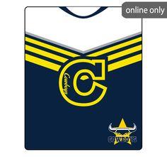 nrl-team-logo-polar-fleece-printed-155x127cm-throw-north-queensland-cowboys Nrl Merchandise, Quilt Cover Sets, Polar Fleece, Cowboys, Team Logo, Quilts, Printed, Logos, Art