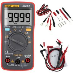 ANENG AN8008 True RMS Digital Multimeter 9999 Counts Backlight AC DC Current Voltage Resistance Frequency Capacitance Square Wave Output