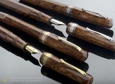 Omas Burl Wood Celluloid Vintage Paragon Fountain Pen