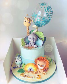 Jungle Birthday Cakes, Jungle Safari Cake, Baby Boy Birthday Cake, Animal Birthday Cakes, Safari Cakes, Safari Theme Birthday, First Birthday Cakes, Birthday Ideas, Mini Tortillas