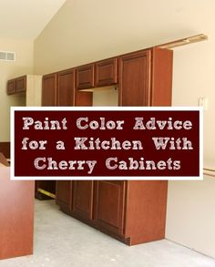 This Is A Guide About Kitchen Paint Advice With Cherry Cabinets. Choosing  The Right Wall Paint Color With Dark Wood Cabinets Can Make A Big  Difference In ...