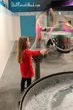 Giant bubbles! Making them at Wonderworks, which is a great place to visit in the Gatlinburg/Sevierville area in Tennessee.