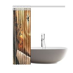 Happy Halloweens Day Gifts Waterproof Bathroom decor Fabric Shower Curtain Polyester 60 x 72 inches >>> You could discover more details by checking out the photo web link. (This is an affiliate link). Halloween Shower Curtain, Hookless Shower Curtain, Blue Waffle, Fabric Shower Curtains, Bathroom Inspiration, Fabric Decor, Happy Halloween, Bathtub, Link