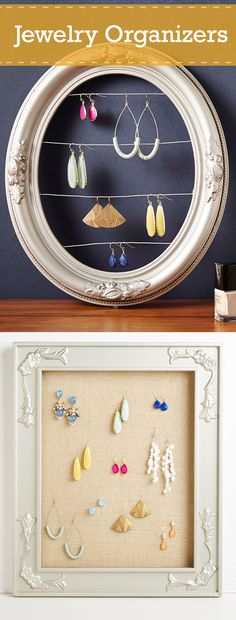 Get your jewelry drawer organized with our simple craft that's rustic and useful. Simply take an old picture frame, add some backing and - voila! - you have a DIY jewelry organizer! Get the instructions >>