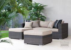 4 Pce Lotus Wicker Lounge