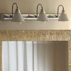 DEA Applique da Specchio bagno a 3 Luci Ceramica Bianca stile classico rustico