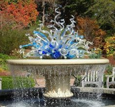 Chihuly glass sculpture/fountain in the Atlanta Botanical Garden.