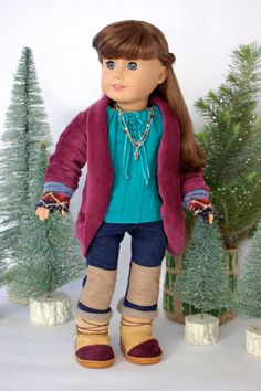 American Girl Doll Clothes Winter Film Festival by GrinProductions, $110.00