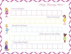 Potty Training Chart  Chart Potty Training Boys And Parents