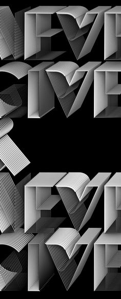 by Jean-Michel Verbeeck http://www.typographyserved.com/gallery/Never-give-up/13593331