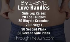 How to lose those love handles and tone & tighten your tummy.