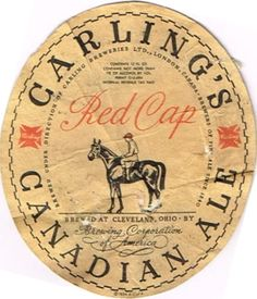 Labels Carling's Canadian Ale  Brewing Corporation of America Cleveland Ohio United States of America