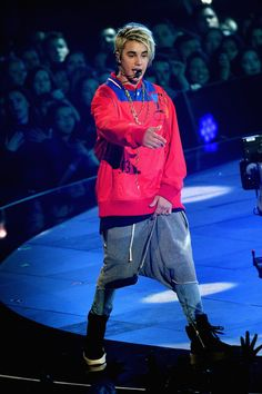 Justin Bieber performs onstage during the iHeartRadio Music Awards