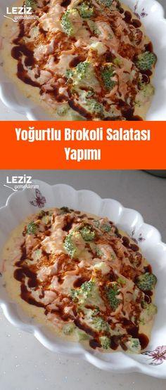 Yoğurtlu Brokoli Salatası Yapımı