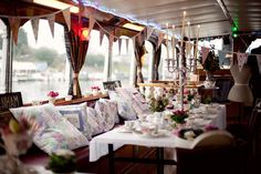 Vintage on a boat - must have the flags.  I have some, and the curtains, I have.