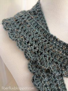 Fiber Flux...Adventures in Stitching: Free Crochet Pattern...Ocean Air Scarf