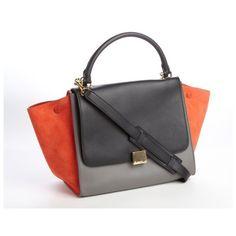 Celine Trapeze Blue Bag 607303
