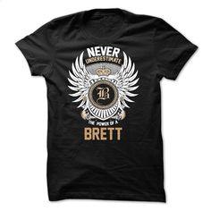 Never Underestimate The Power of a BRETT T Shirt, Hoodie, Sweatshirts - teeshirt dress #style #clothing