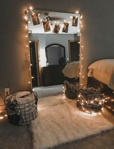 Bedroom Decor Lights, Bedroom Decor For Couples, Room Ideas Bedroom, Bedroom Lighting, Diy Bedroom, White Bedroom, Dining Room Colors, Cute Dorm Rooms, Aesthetic Room Decor