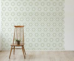 Moroccan Floral style, Scandinavian Wall Stencil for DIY project, Wallpaper look and easy Home Decor
