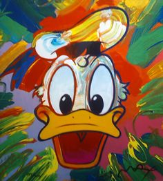 I love Peter Max art! Combine it with Disney, even better. Mickey Mouse Art, Mickey Mouse Wallpaper, Mickey Mouse And Friends, Duck Pictures, Disney Pictures, Disney Duck, Disney Art, Donald Disney, Walt Disney