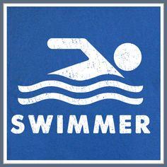 Swim Swimming Swimmer T SHIRT Team USA Suit by Shirtmandude, $12.00
