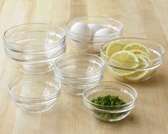 Glass Prep Bowls, Set of 8   Williams-Sonoma